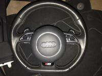 Audi s3 65 plate flat bottom stearing wheel.