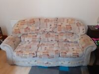 Sofa & Chair, 3 Seater Sofa/Settee and 1 Matching Chair.