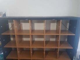 Ikea Kallax Shelving Unit 25 Shelves 5x5 Black Wood Bookshelf Good For Business Or
