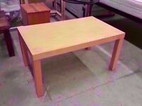 Plain maple laminated Ikea coffee table