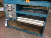 Van or garage tidy metal with drawers