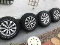"5x120 5 x 120 Volkswagen VW Amarok 18"" Durban alloy wheels with tyres"
