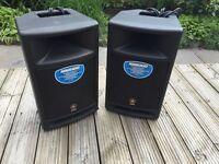 2 Yamaha MSR100 2‑way Speakers