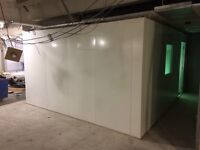 Modular steel soundproof recording booth 4.1x 3.75 x 2.2m high