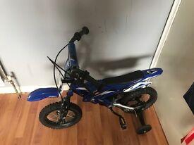 Blue 2-4 year old bike
