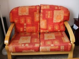 2 seater settee + 2 matching armchairs