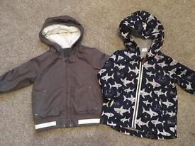 Baby boys 6-9m light weight rain jackets