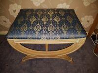 Fancy dressing table stool