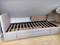 Single bed frame with drawer