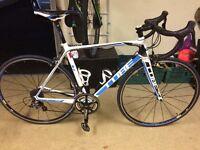 Carbon fibre cube agree road bike .