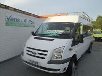 2009 17 seater transit twin wheel ex ministory of defence full history £6250