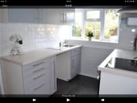 Non Used Kitchen! (inc. Cabinets, Oven and Elec Hob)