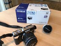 Olympus Pen PL1 camera & lenses excellent condition with box etc