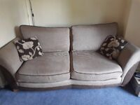 Brown Fabric Sofa - Used but in Great Condition. Very Comfy!