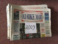 """""""Old Bike Mart"""" motorcycle newspapers."""