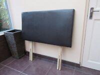 Leather effect (brown) single bed headboard