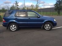 Mercedes ML270 CDi AUTO, Diesel 120K FSH LONG MOT £1250