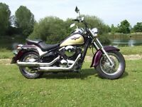 Ready to ride, VN800. Very tidy and completely stock. 11 months MOT, fully serviced