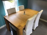 Excellent Solid Oak Extending Dining Table