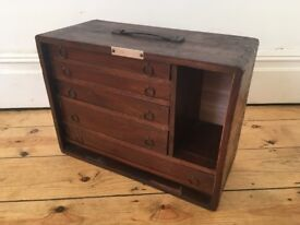 Vintage Old Engineers Drawers Toolbox Cabinet Worn and Lovely