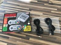 SNES Super Nintendo Mini Classic boxed as new with cable extension leads