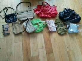 Handbags £1 each. Belts £0.50 each