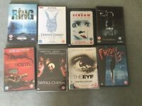 DVDS FOR SALE. HORROR X8.