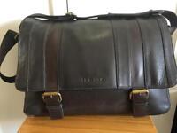 Ted Baker Mens Satchel / Shoulder/ Messenger Brown Leather Bag