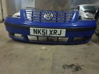VW Sharan Front Bumper with Badge