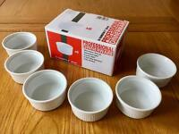 Box of 6 Brand New Unused Ramekin Dishes COLLECT LEEDS