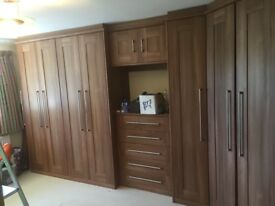 Fitted wardrobes - high quality, dark wood, to be removed and reassembled