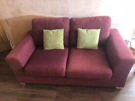 Large 2 Seater Fabric Sofa ex DFS