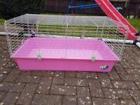Pink indoor cage