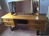 G Plan Oak solid wood dressing table