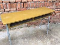 Retro Iconic Vintage School Table Statement Furniture Dining Side Display Desk