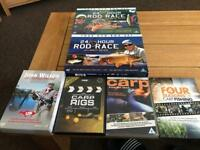 Selection of x16 carp fishing dvds good watch