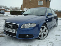 2007 Audi A4 3.0 TDI S LINE EDITION 6 Sp,Manual,FULL SERVICE HISTORY,SAT.NAV,S-LINE LEATHER SEATS,