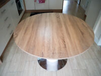 Modern Dining Table Oak Veneer Round / Oval Extending 1.2-1.6 mtr. Collection only
