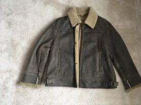 Ladies leather flying jacket