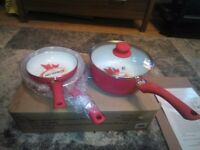 NEW 4 Pieces Ceramic Pan Set