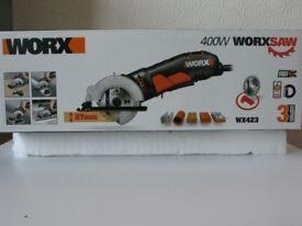 WORX 400 watt WORXSAW NEW in box IDEAL Xmas present and only £30!