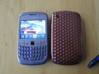 Blackberry Curve 8520 Violet. Unlocked. VGC. with protective cover.