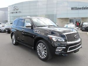 2015 Infiniti QX80 Technology pkg, Navi, Blind spot, Adaptive cr