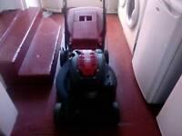 Mountfield petrol self-drive self-start lawn mower.