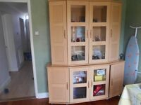 Large cabinet with tv stand