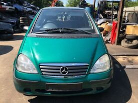 2001 Mercedes A140 Classic 5dr 1.4 Petrol Green BREAKING FOR SPARES