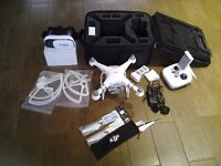 DJI PHANTOM 3 ADVANCED DRONE WITH LOTS OF EXTRAS