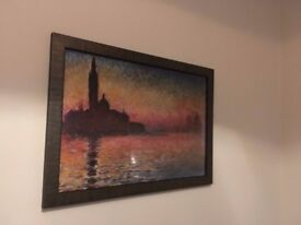 Framed print Monet's 'Twilight Venice'