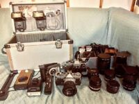 Olympus OM-1 and a huge amount of camera gear