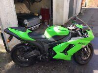 Iconic Green Kawasaki Ninja ZX6R, 58 plate, 14000 miles, FSH, Tax and MOT til Feb 18